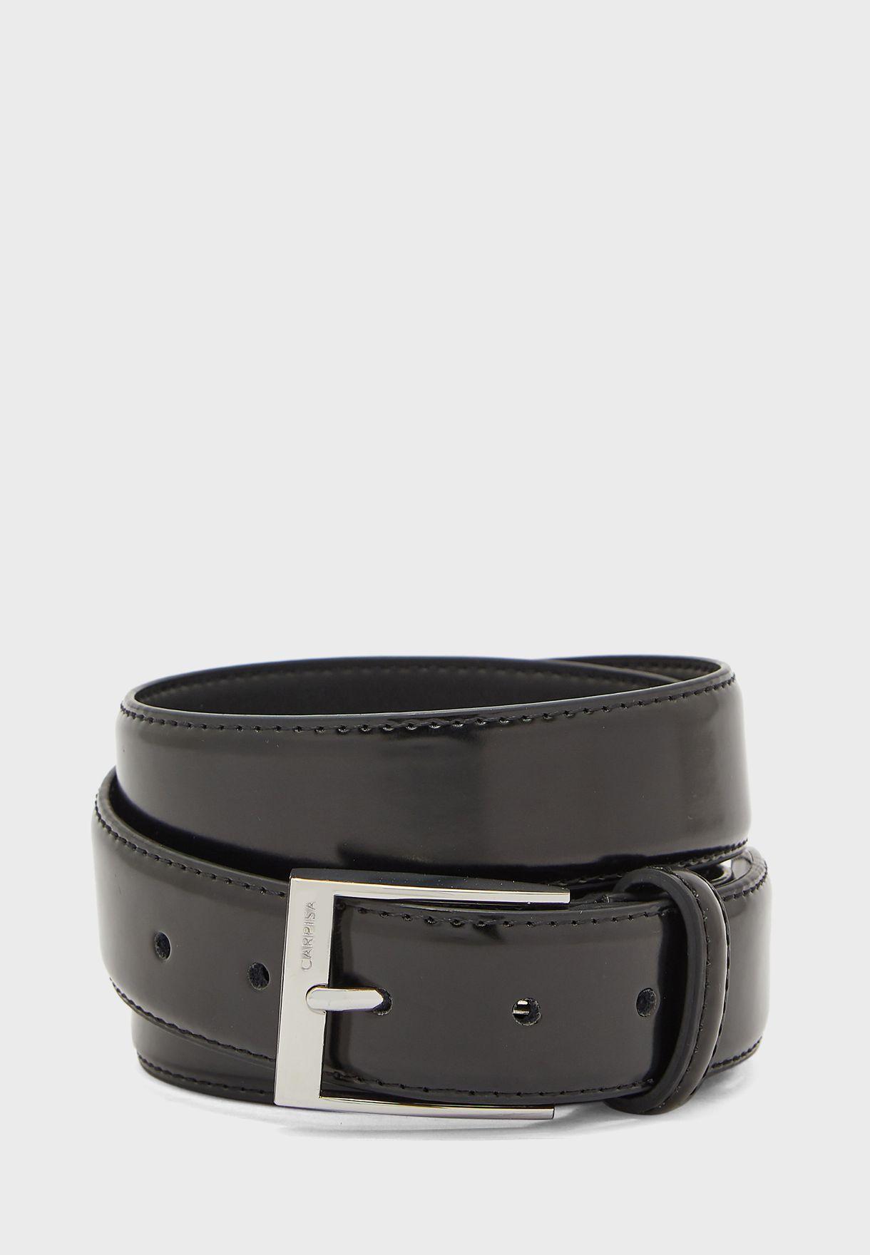 Rectangular Metal Buckle Belt