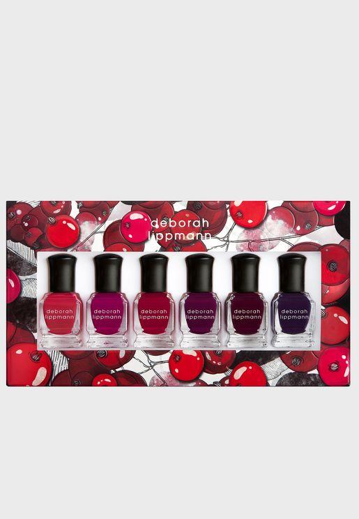 6 Pack Nail Polish Set -Very Berry