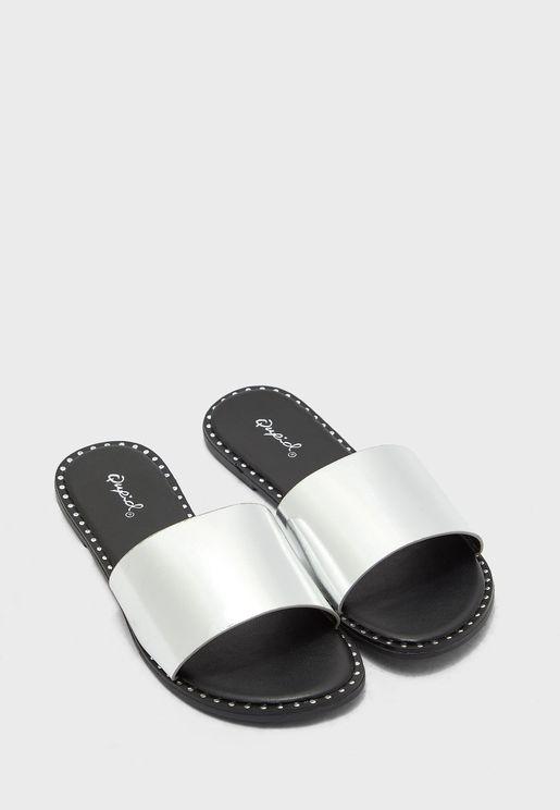 One Strap Flat Sandals