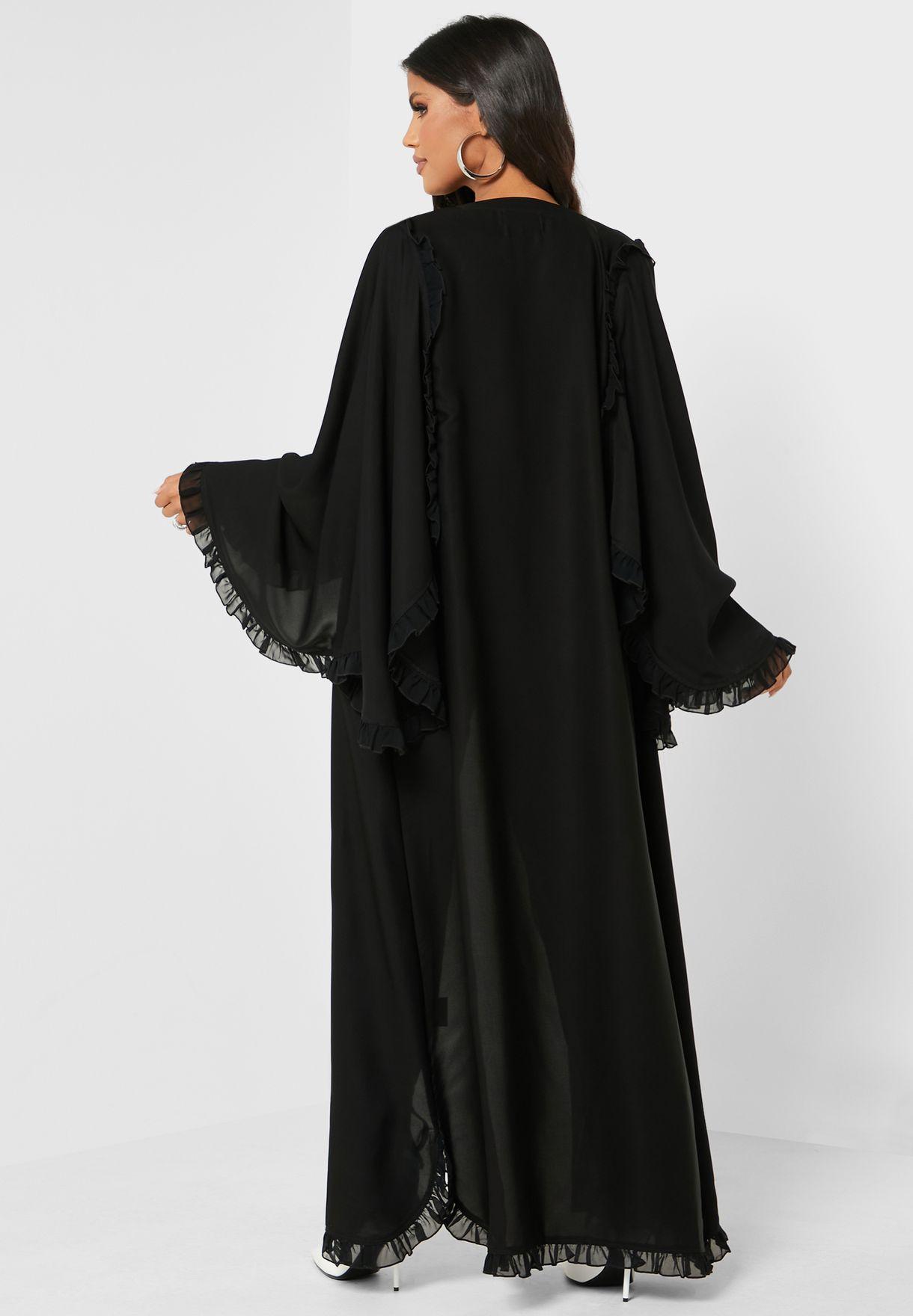 Ruffle Sleeves Abaya