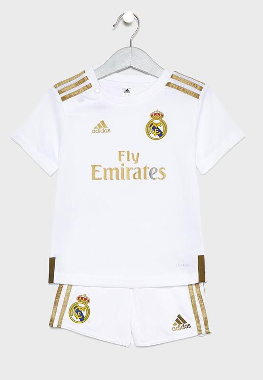 طقم رياضي للاطفال بشعار ريال مدريد