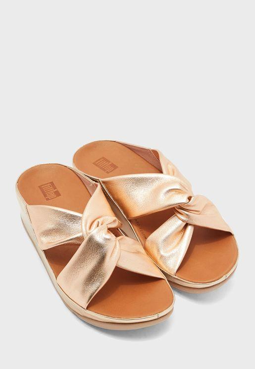 Twiss Cross Wedge Sandal