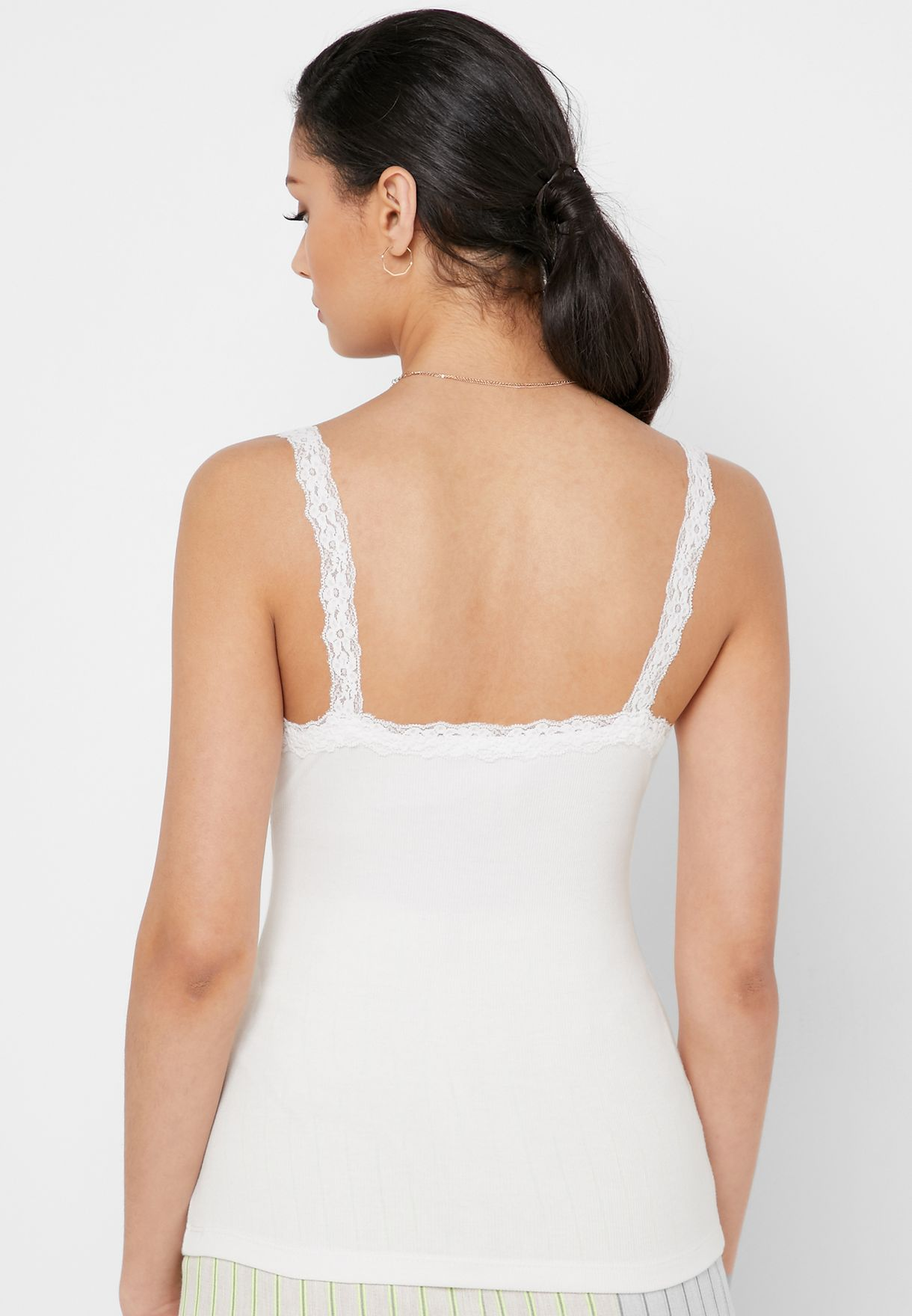 Lace Trim Cami Top