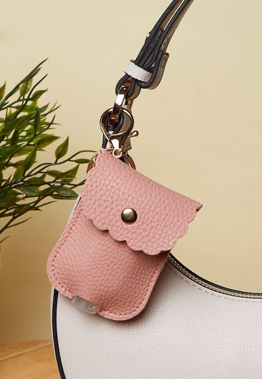 Sanitiser  Case with Keychain Bag Clip