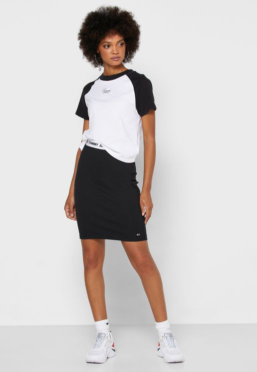 Logo Band Skirt