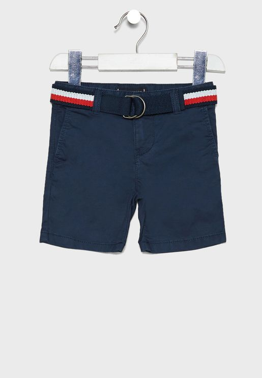 Kids Belted Chino Shorts