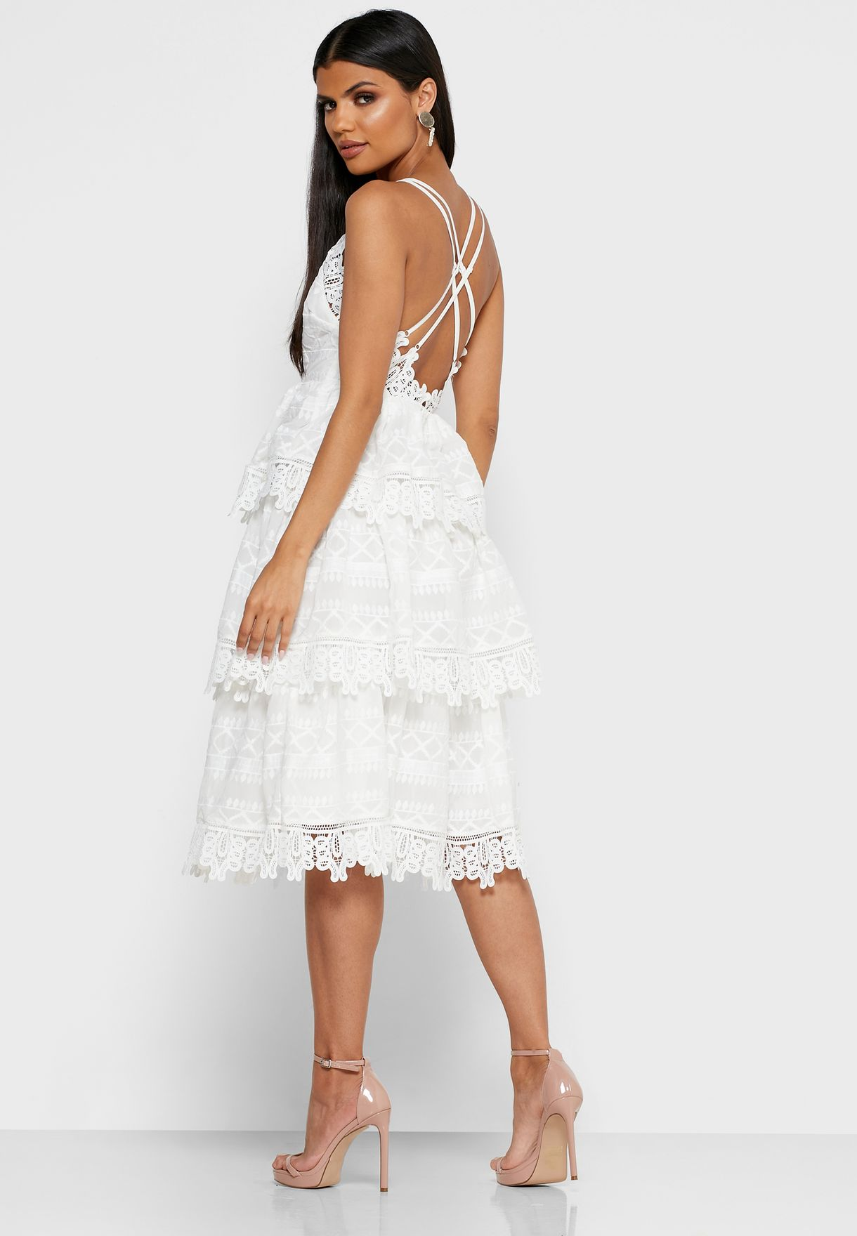 Layered Cami Lace Dress