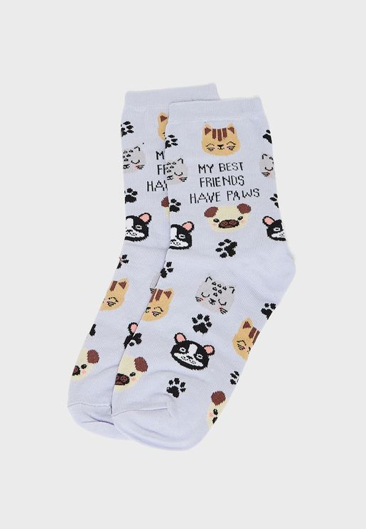 Best Friends Have Paws Animal Socks