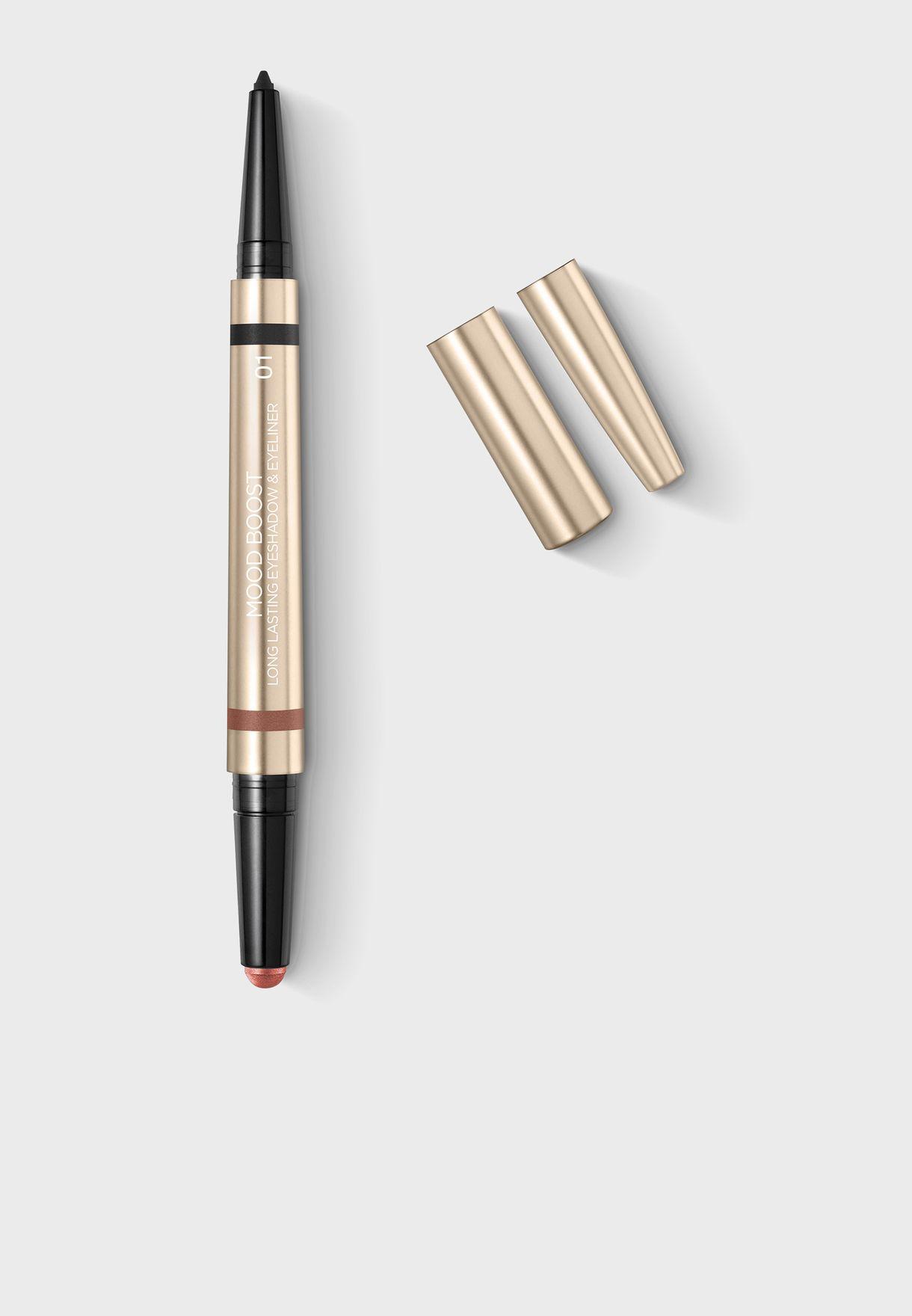 Long Lasting Eyeshadow & Eyeliner - Black&Coral Bronze