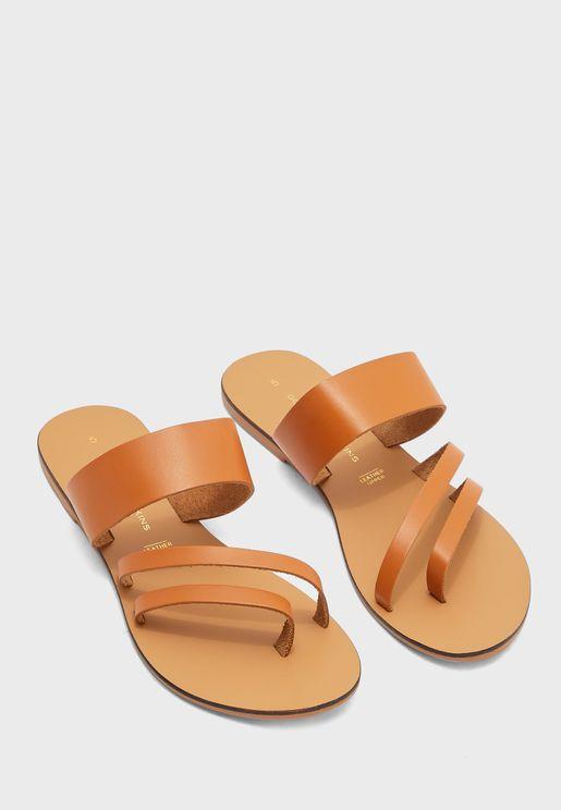 Joss Asymmetric Flat Sandals