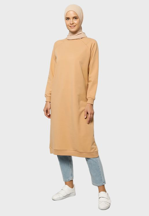 Crew Neck Sweat Dress