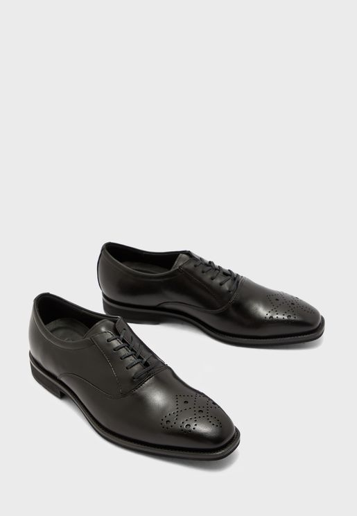 Calcan Plain-Toe Lace Up