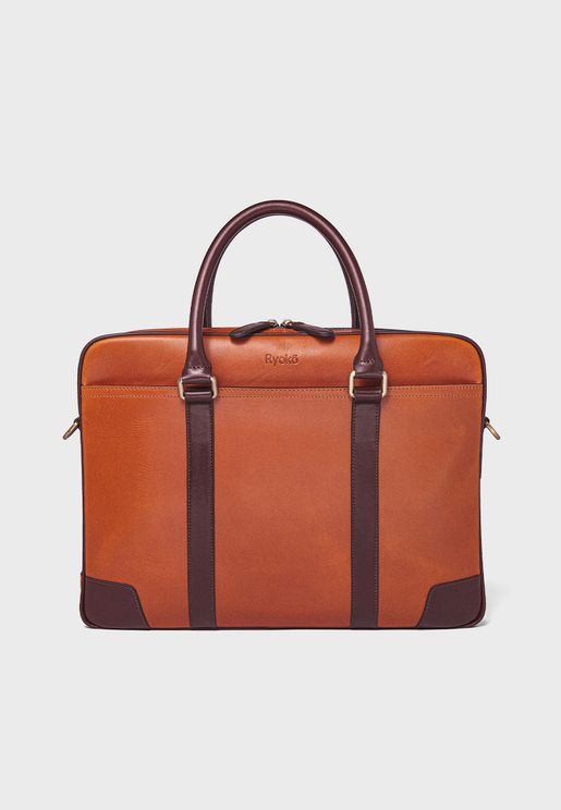 15' Wellington Leather Briefcase