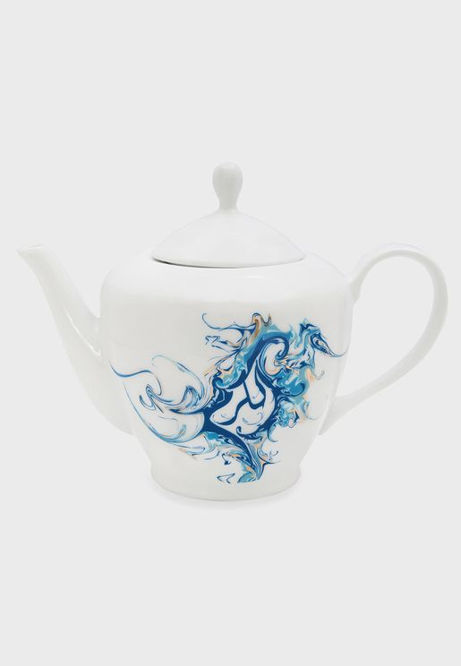 ابريق شاي بطباعة الكرم