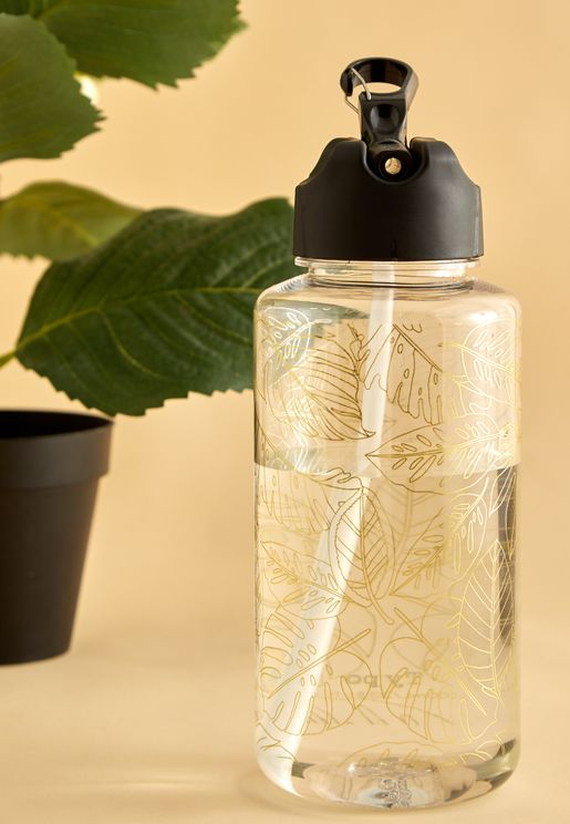 Leaf Pattern Water Bottle 1L