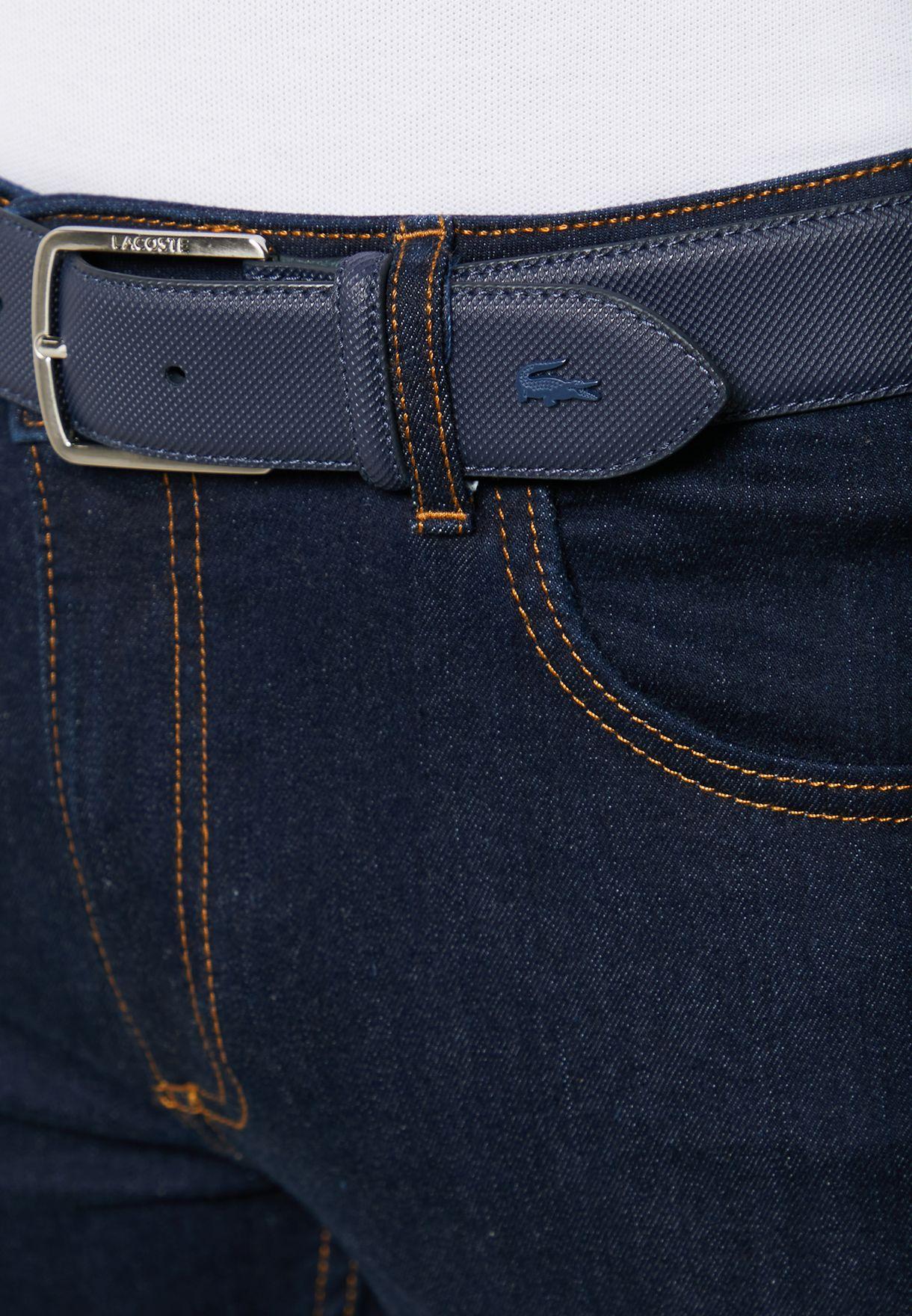 Curved Stitched Edge Belt