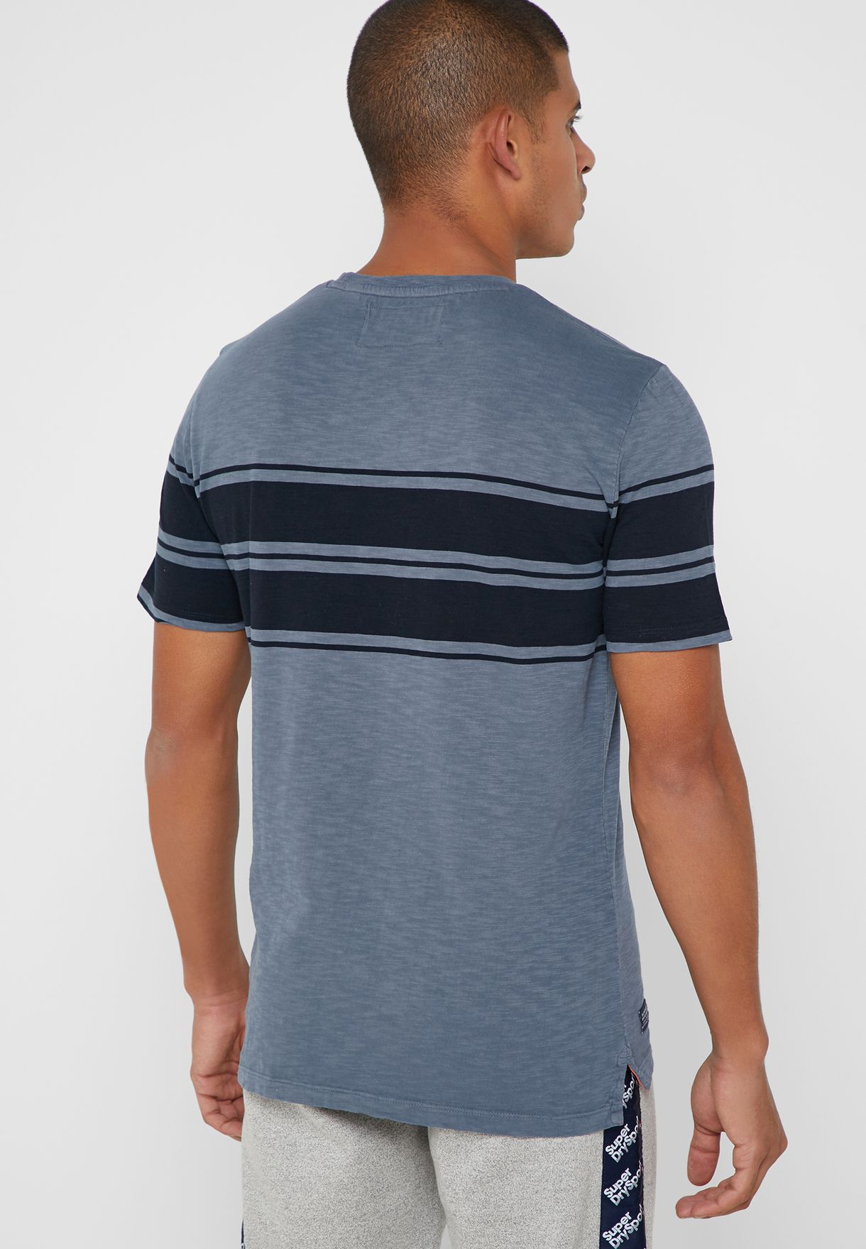 Dry Originals Stripe Crew Neck T-Shirt