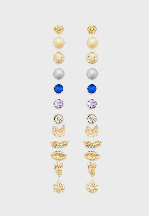 Design Stud Multipack Earrings