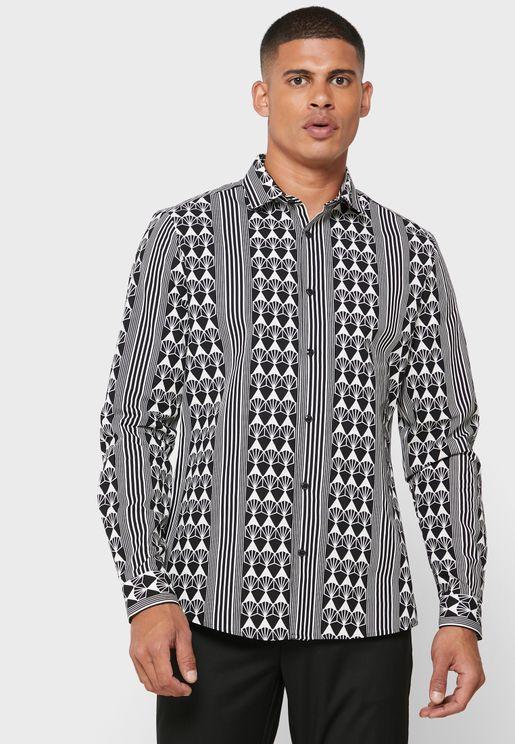 Geo Stripe Regular Fit Shirt