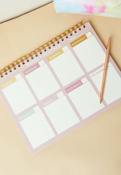 A4 Pink Weekly Planner