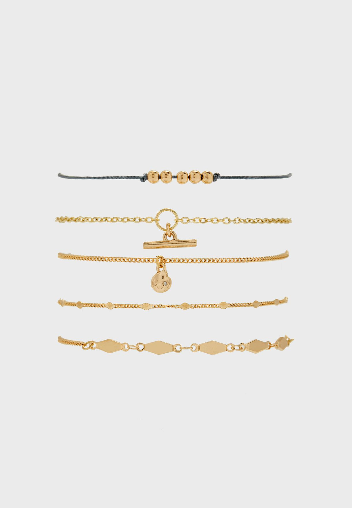 5 Pack Mixed Bracelet Set