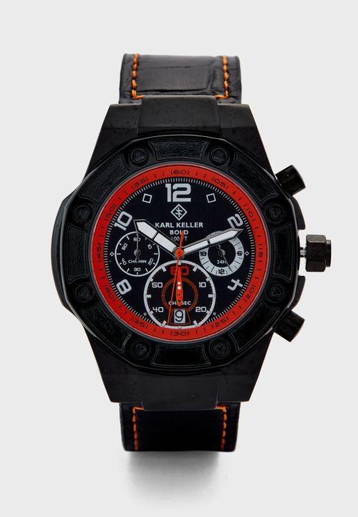 Bold Chronograph Analog Watch