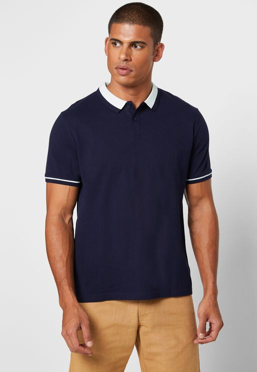 Collar Detail Polo Shirt
