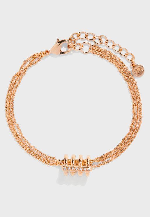 Ring Detail Chain Bracelet