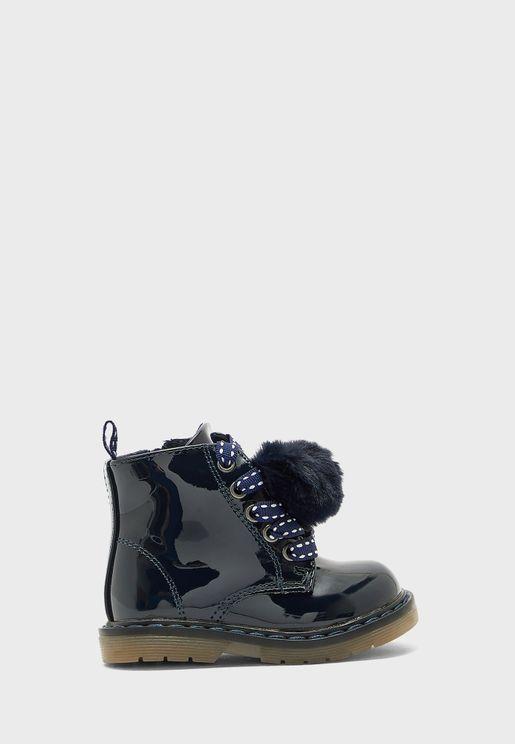 Kids Pom Pom Boots