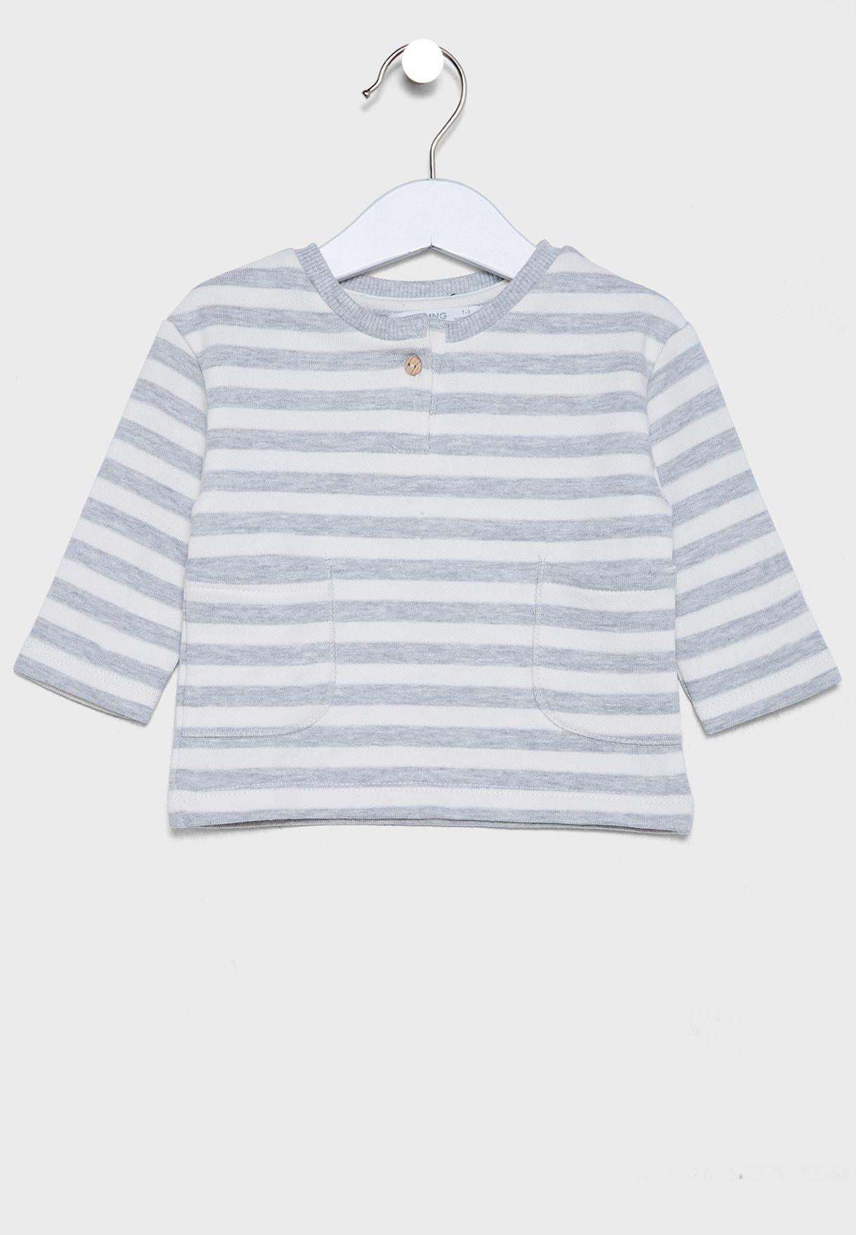 Infant Striped Sweatshirt