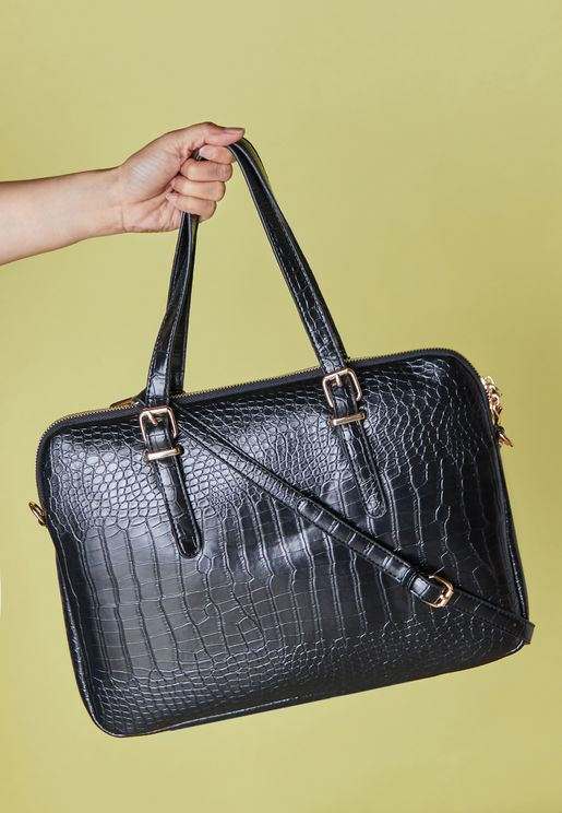 "15"" Croc Embossed Laptop Bag"