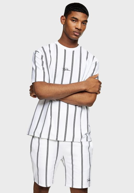 Striped Signature Crew Neck T-Shirt