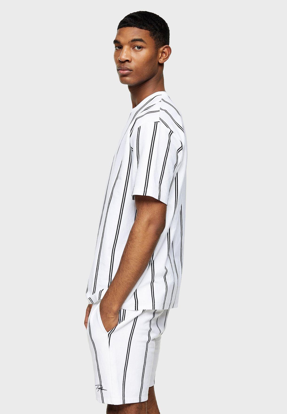 Striped Signature Crew Neck T-Shirt