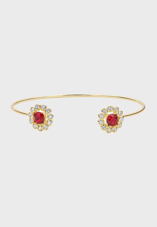 Lralzia Daisy Crystal Ultra Fine Cuff bracelet