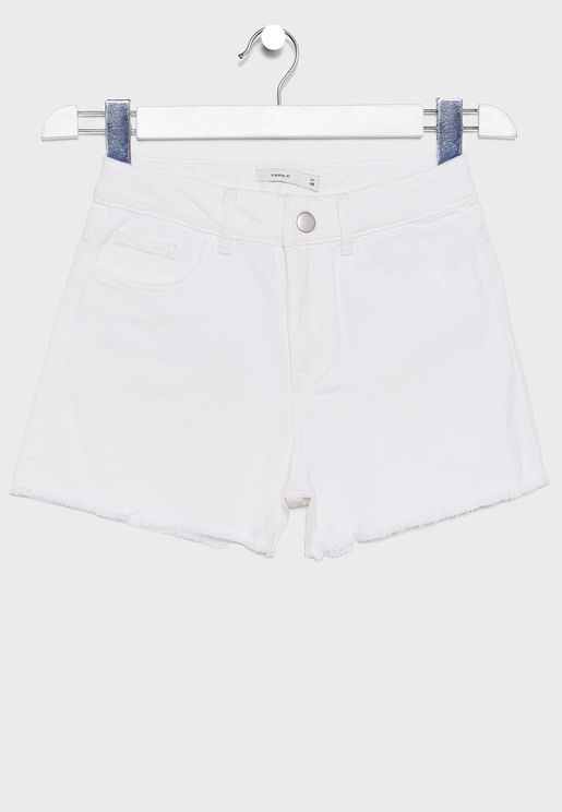 Kids Button Detail Shorts
