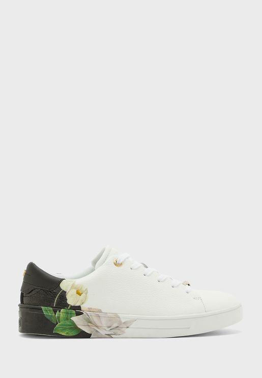 darma flower print low top sneaker