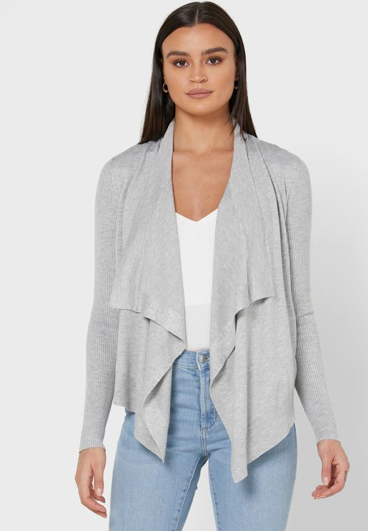 Mauvvie Waterfall Cardigan
