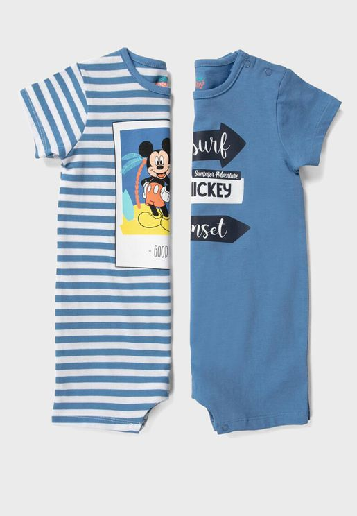 Infant 2 Pack Mickey Mouse Romper