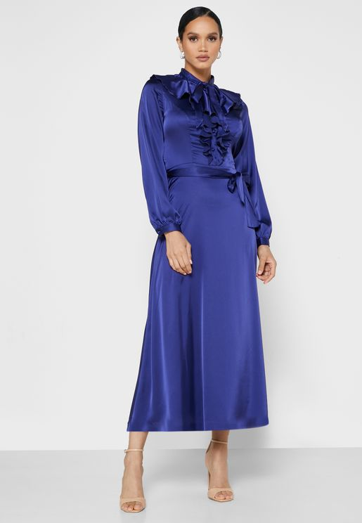 فستان بطبقات كشكش