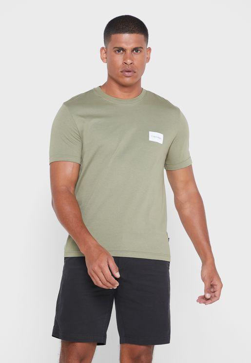 Logo Sleeve Crew Neck T-Shirt