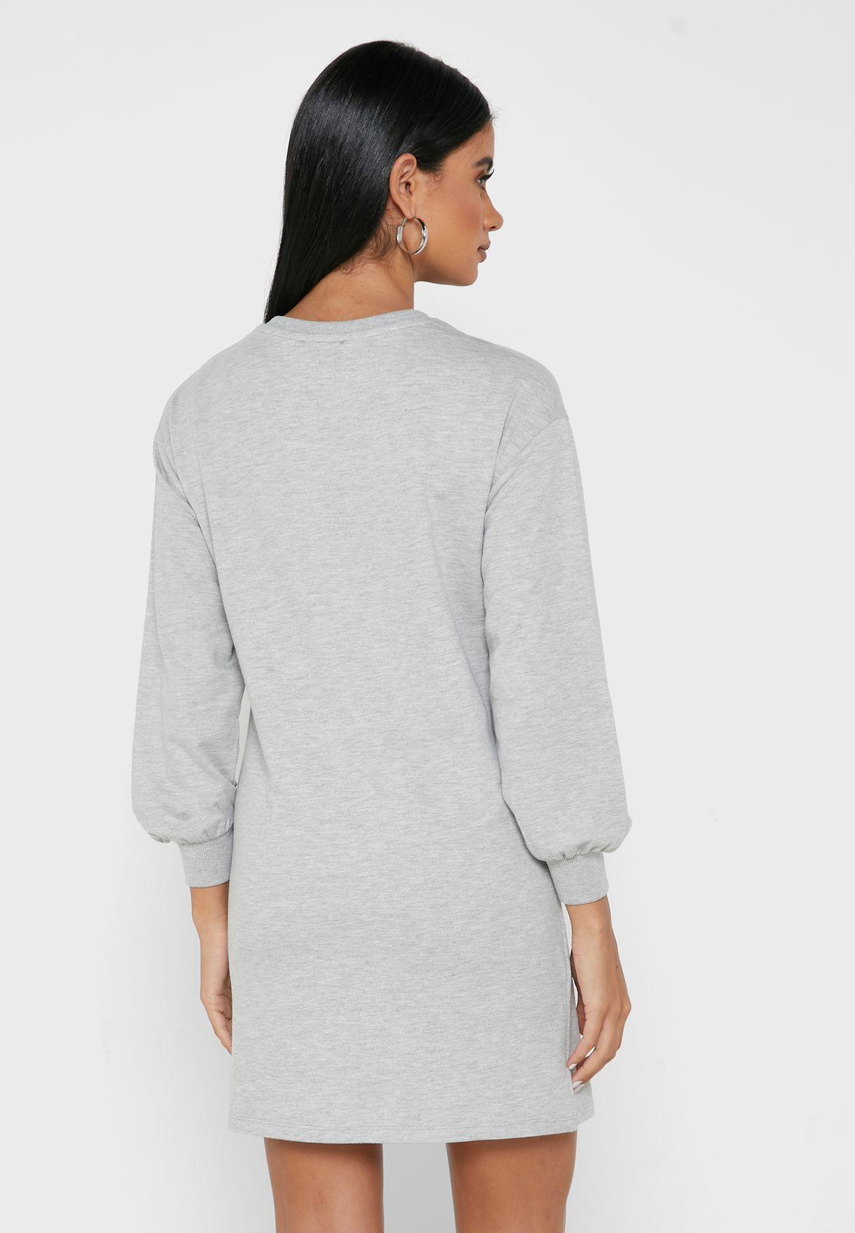 Oversized Slogan Sweat Dress