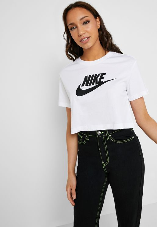 3e552fc7ee75 Essential Futura Icon Cropped T-Shirt. Nike