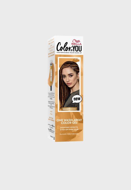 صبغ شعر (غسلة واحدة) بني ذهبي