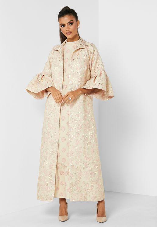 Jacquard Kimono Dress