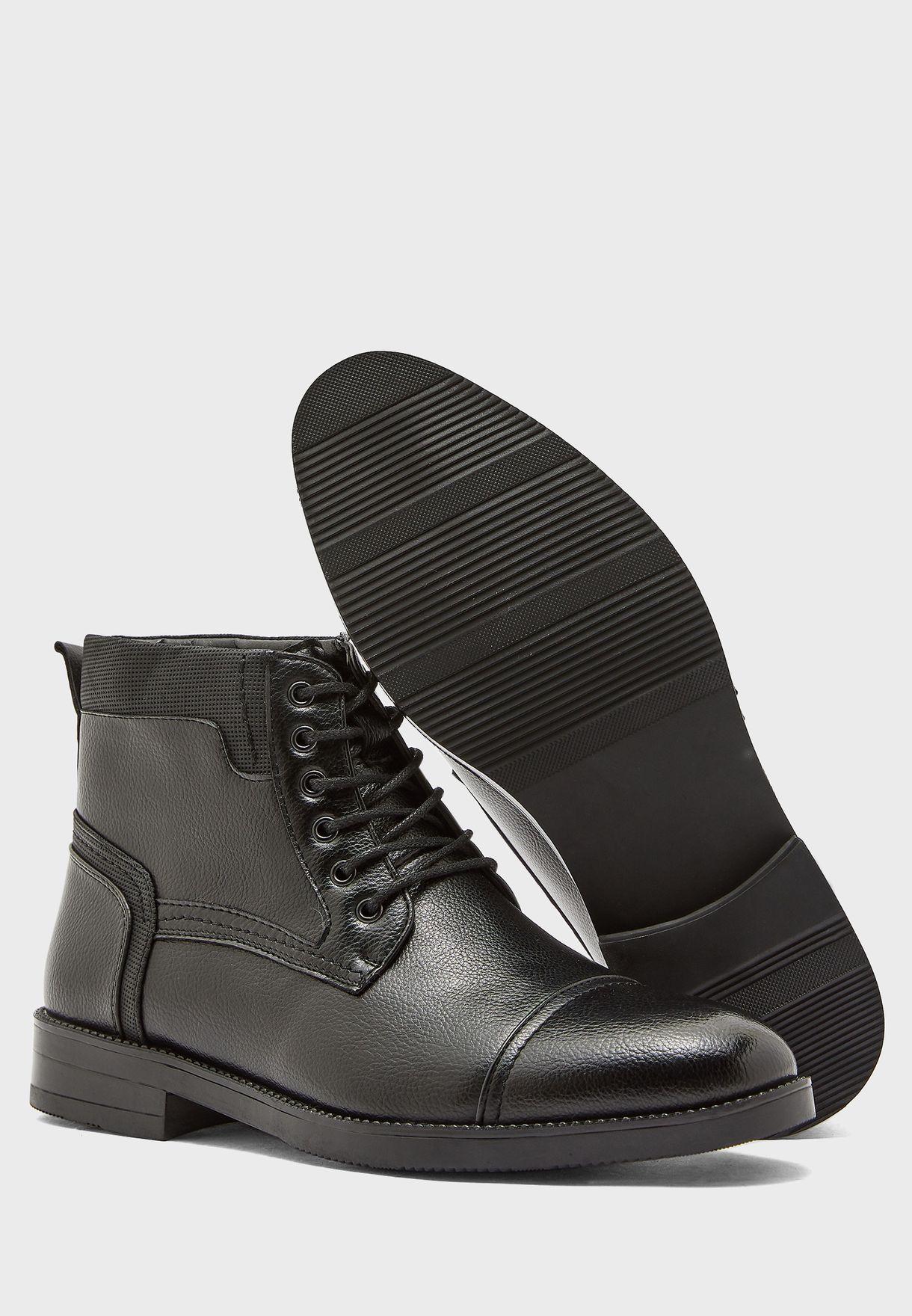 Lace Up Dress Boots