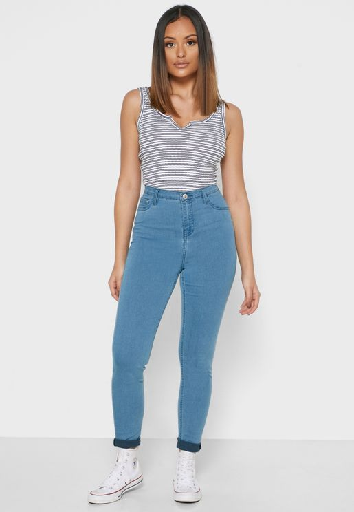 جيغنز بخصر مرتفع