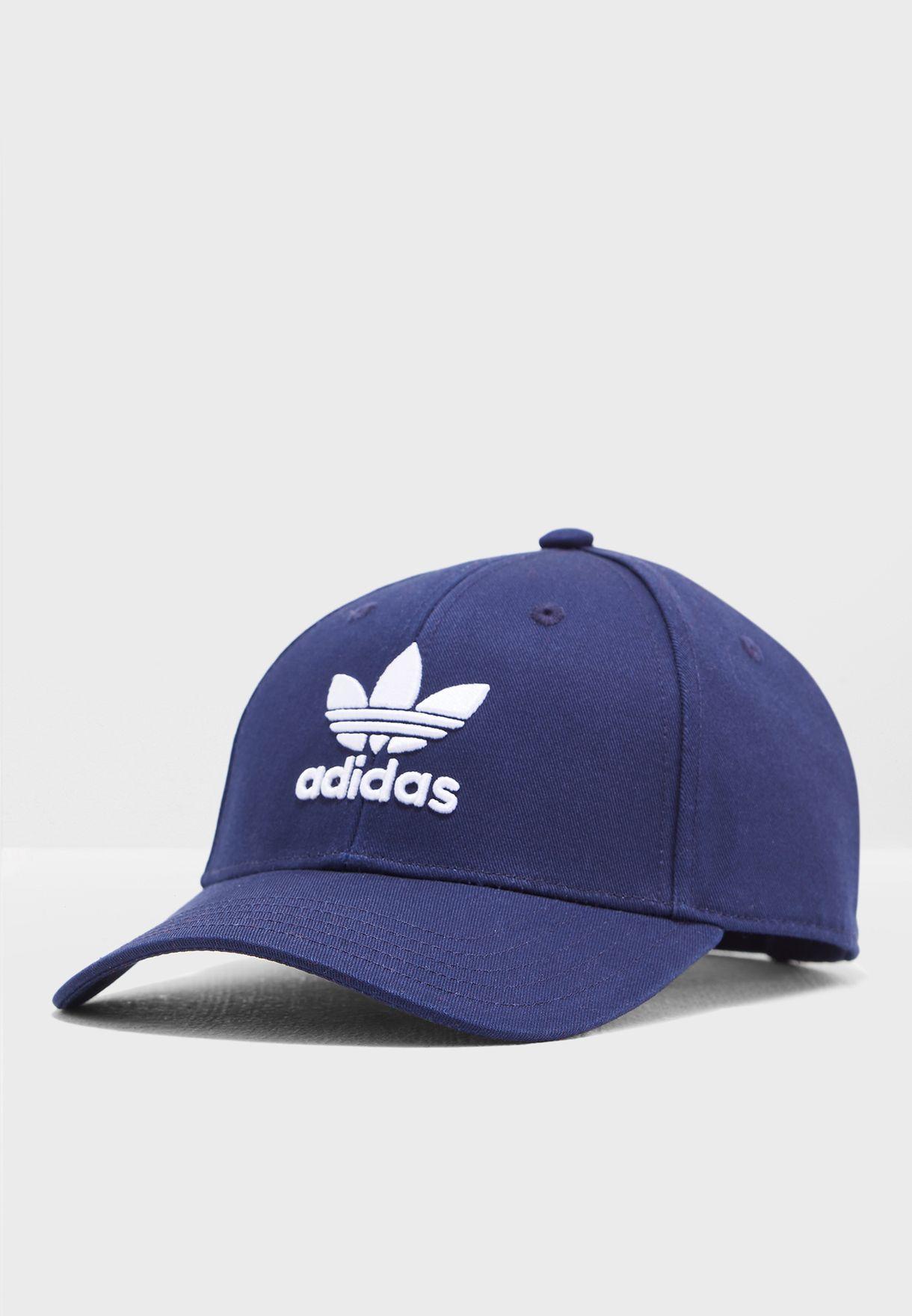 607f943578e Shop adidas Originals navy Classic Trefoil Cap DV0174 for Men in UAE ...