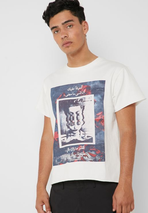 Fading Faces Graphic T-Shirt