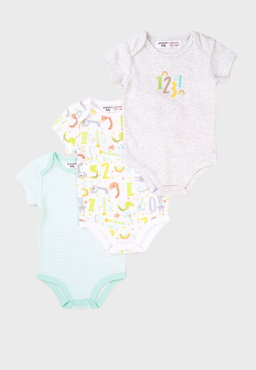 Infant 3 Pack Assorted Bodysuit
