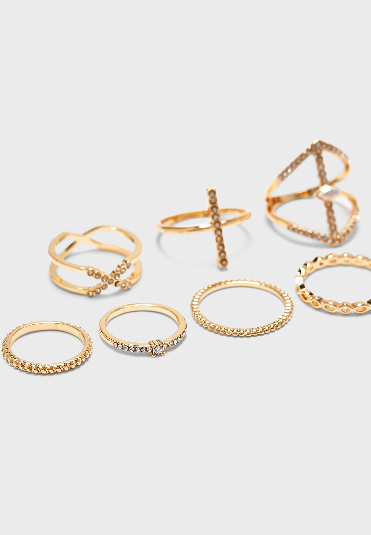 Multipack Diamante Rings